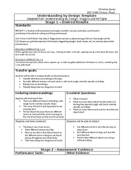 lesson plan on touch