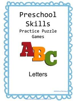 Preschool Skills Puzzle Games Letters