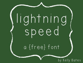 {a free font} lightning speed