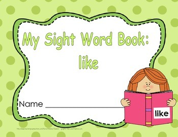 "Sight Word Practice Book and Emergent Reader-""like"""