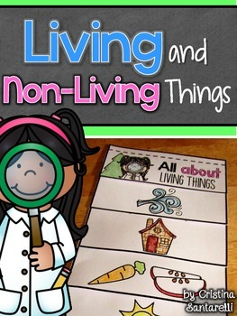 living and non-living things flip book