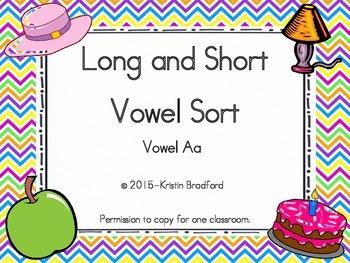 long and short vowel sort letter a