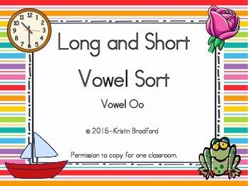 long and short vowel sort letter o