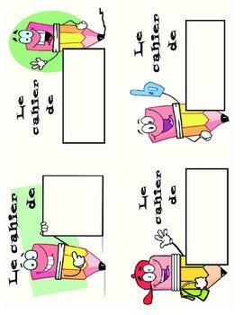 l'étiquette pour les cahiers / labels for workbooks