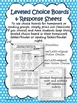 mCLASS Reading 3D TRC Leveled Reading Response Choice Boards
