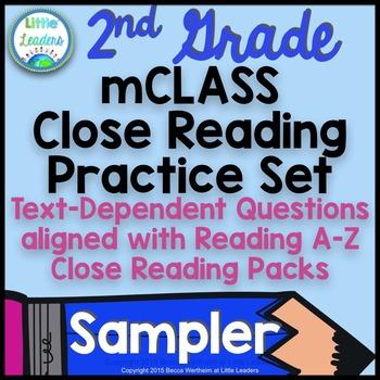 mCLASS TRC Practice for Reading A-Z Close Reading FREEBIE SAMPLER