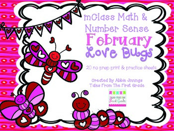 mClass Math and Number Sense February Love Bugs