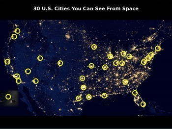 mapping 30  U.S. Cities you can see from space: 100-slide