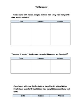 math word problems for first graders