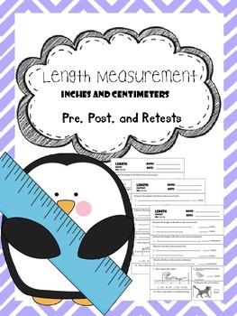length measurement pre, post, and retests