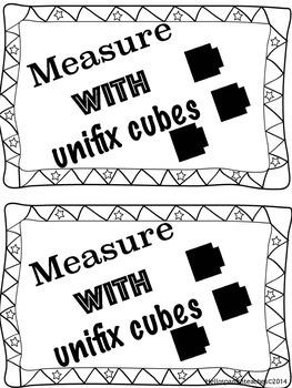 measuring book using unifix cubes