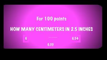 metric/standard jeopardy game