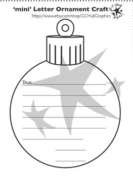 mini Letter Ornament Craft PDF Template