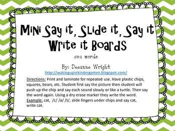 mini say it, slide it, say it, write it boards-cvc