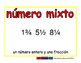 mixed number/numero mixto meas 2-way blue/rojo