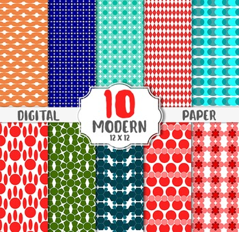 modern digital paper holiday colors