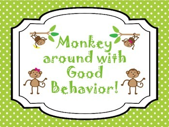 "Monkey around with good behavior! ""Bananas"""