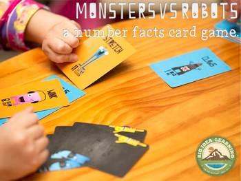 monsters vs robots, K-3 - number skills game
