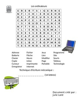 mot caché sur les ordinateurs