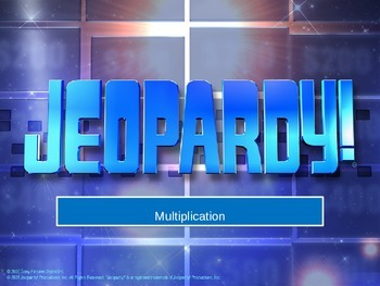 multiplication jeapardy game