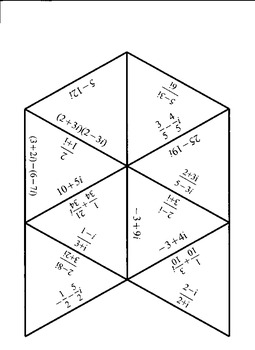multiplying and dividing complex number jigsaw