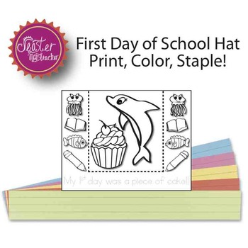 my first day was a piece of cake fish ocean headband BLACK