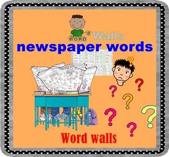 Newspaper words  Word Walls