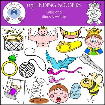 ng Ending Sounds Clip Art