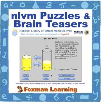 nlvm Interactivities -- Math Puzzles & Brain Teasers--Comm