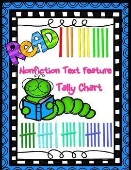 Tally Chart {Graphing} (Non-Fiction Text Features) #thirdg