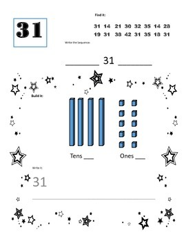 numbers 31-40 place value worksheets