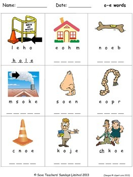 o-e phonics lesson plans, worksheets and other teaching resources