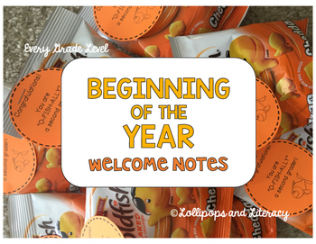 Back to School Welcome Note