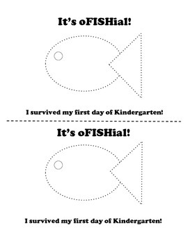 oFISHial first day of school craft