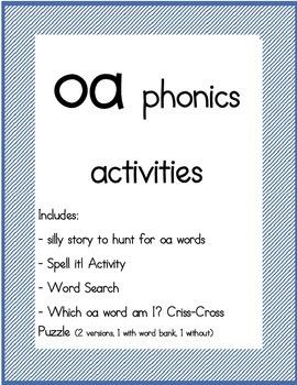 oa phonics packet
