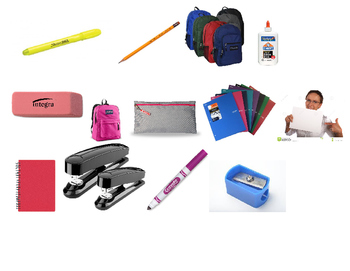 objetos de la escuela vocabulario