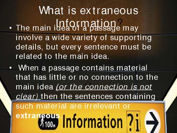 off topic extraneous information