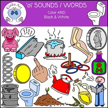 oi Sounds / Words Clip Art