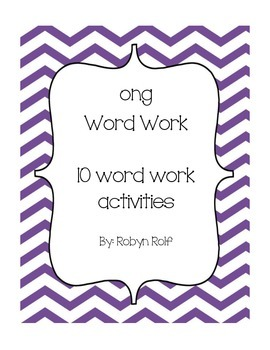 ong Word Work Pack
