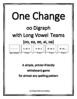 "oo with Long Vowel Teams (oo, ao, ai, ee, ea)- ""One Change"