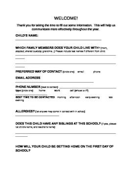 open house parent letter