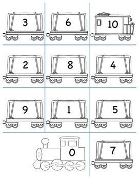 ordering numbers 0-10 train