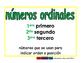 ordinal numbers/numeros ordinales prim 2-way blue/verde