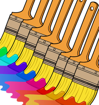 paintbrush with paint clip art
