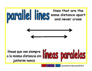 parallel lines/lineas paralelas geom 1-way blue/rojo