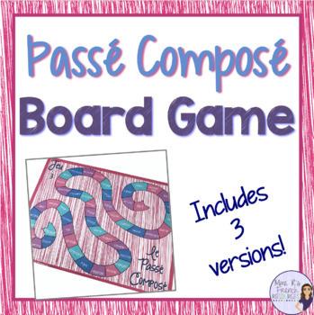 Passé composé board game with regular and irregular avoir