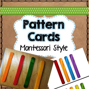 pattern cards with popsicle sticks