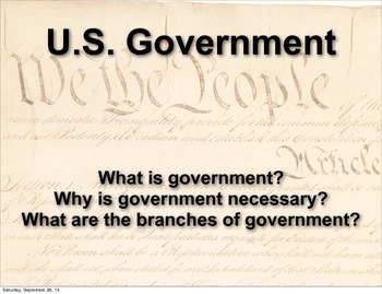pdf Handout - What is Government?