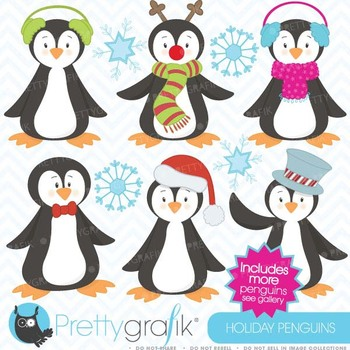 penguin clipart commercial use, vector graphics, digital c