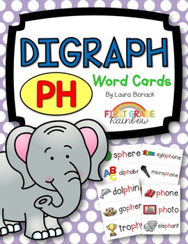 ph Digraph Word Cards